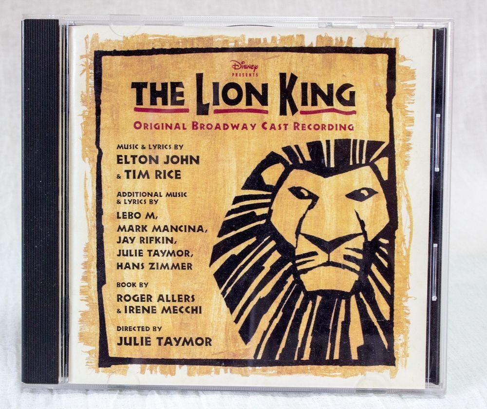 Disney The Lion King Japan CD Orginal Broadway Cast Recording POCD00206