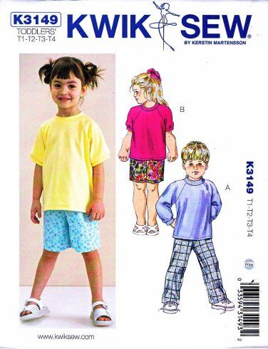 shirt crafting paper Sewing pattern for boys 1999 Kwik Sew mod podge pants and shorts