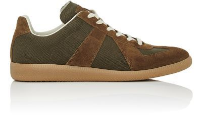MAISON MARGIELA Men'S Replica Canvas & Suede Sneakers. #maisonmargiela #shoes #sneakers