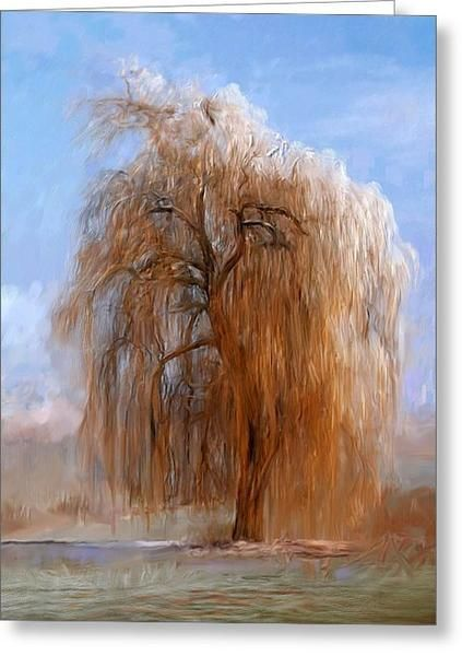 The lone willow tree greeting card willow tree and cards portraits by nc greeting card in three sizes greeting note willow m4hsunfo