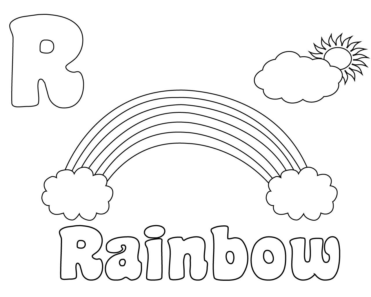 Letter R Coloring Pages For Preschool