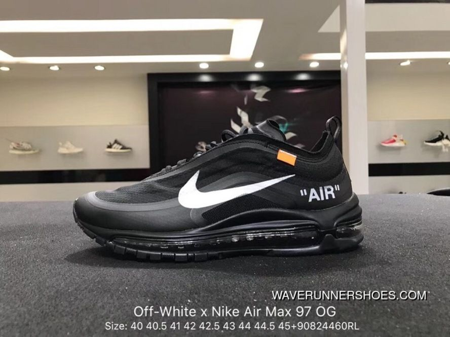 f6800b8e460c Nike Authentic Virgil Abloh Designer Super Limited OFF-WHITE X Air Max 97  Retro All-match Jogging Shoes Size AJ4585-100 Discount