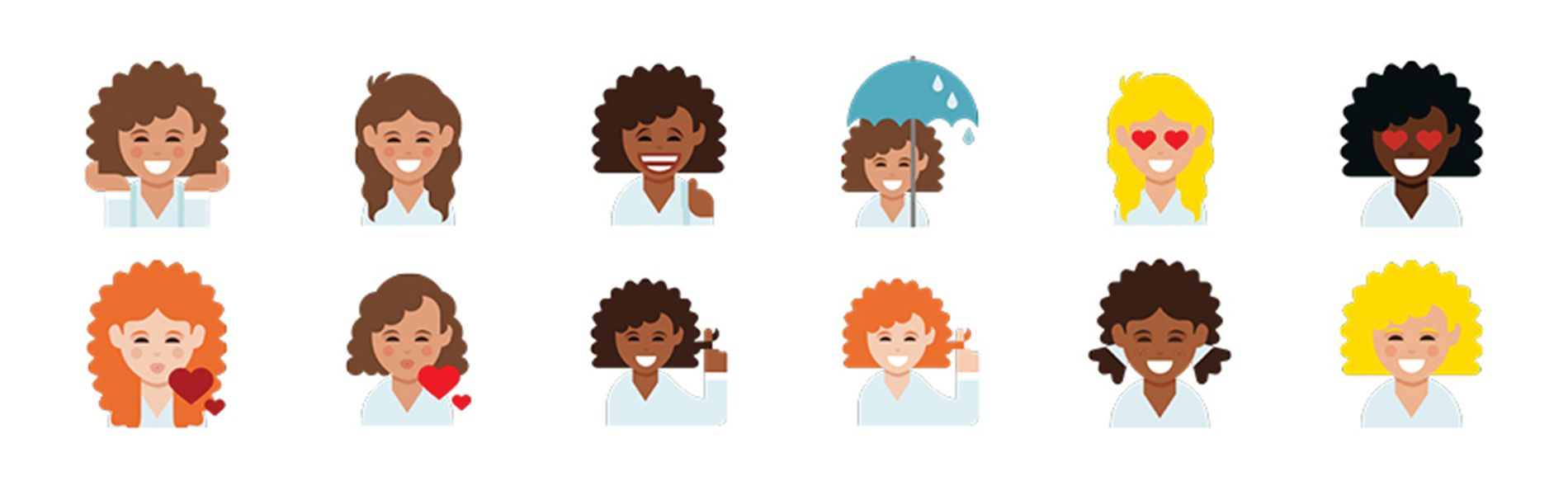 The Wait For Curly Hair Emojis Is Over Thanks To Dove Hair Curly Hair Styles Curly Girl Hairstyles Emoji
