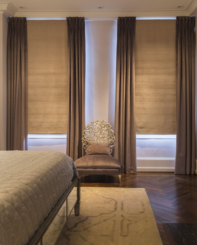 Design Leslie Hayes Interiors Serene Bedroom Textil Cortinas - Cortinas-en-habitaciones