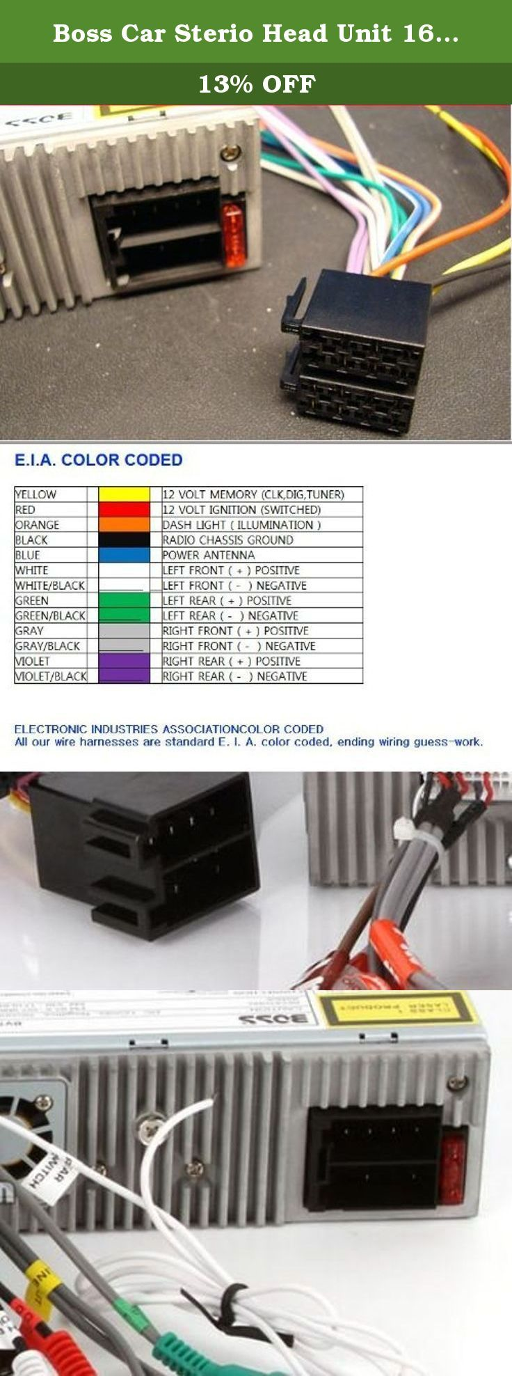 medium resolution of boss car sterio head unit 16 pin wire harness power plug cd mp3 dvd