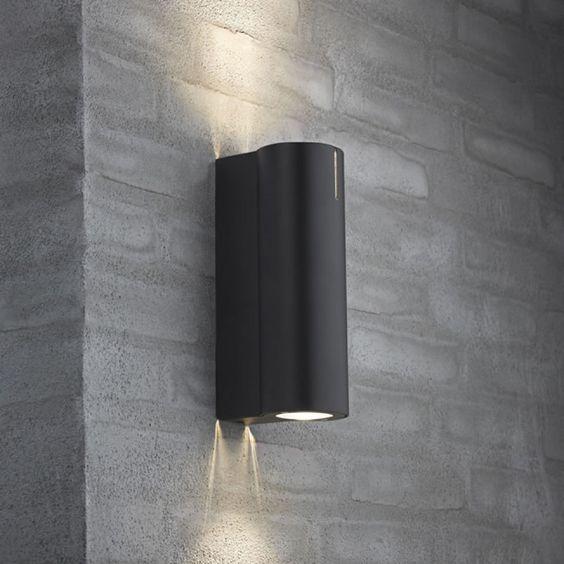 Spot terrasse Applique Tin H17 cm IP54 Noir