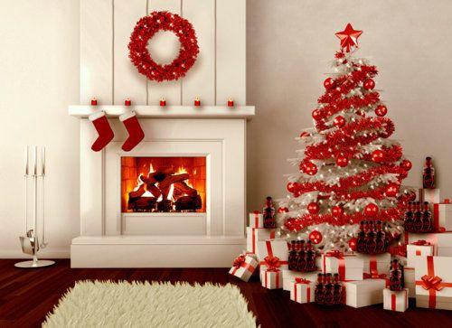 ❄ Red and White Christmas Decor Christmas Pinterest Christmas