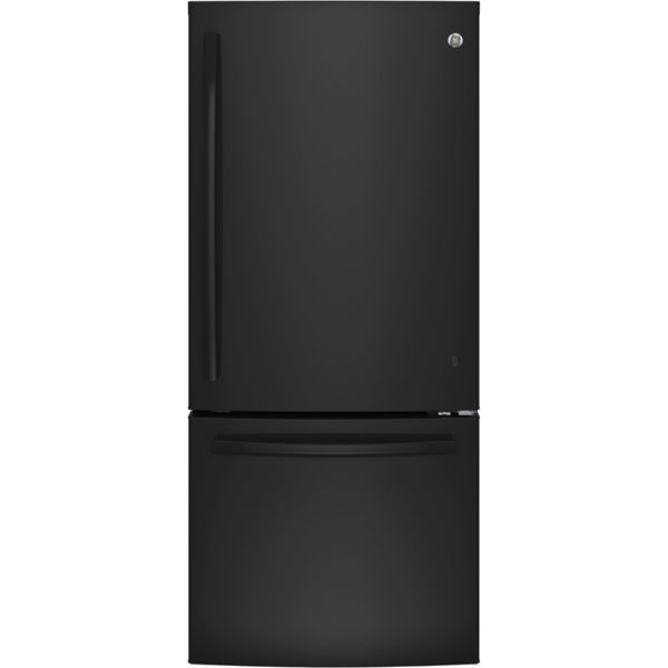 Shop Ge 20 9 Cu Ft Bottom Freezer Refrigerator Black Energy Star At Lowe S Canada Find Our Selectio Bottom Freezer Refrigerator Bottom Freezer Refrigerator