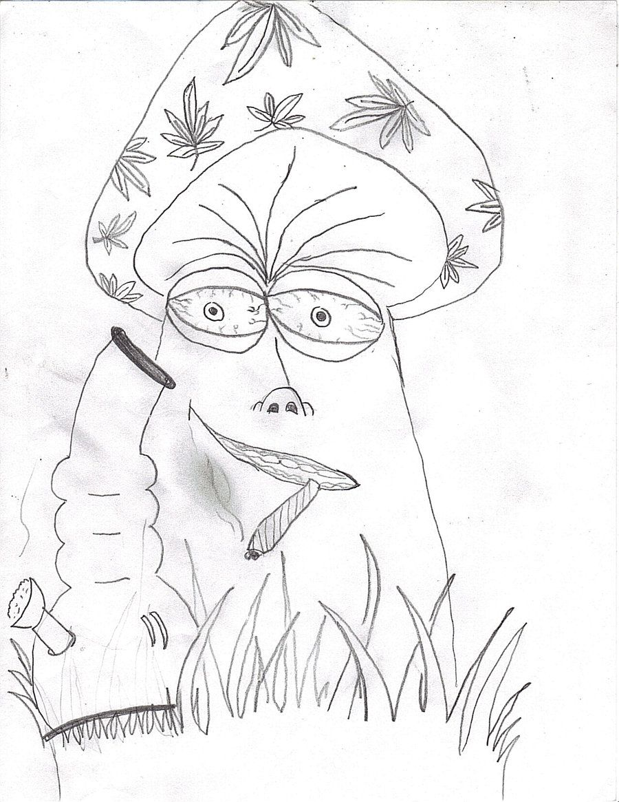 trippy shroom coloring pages google search