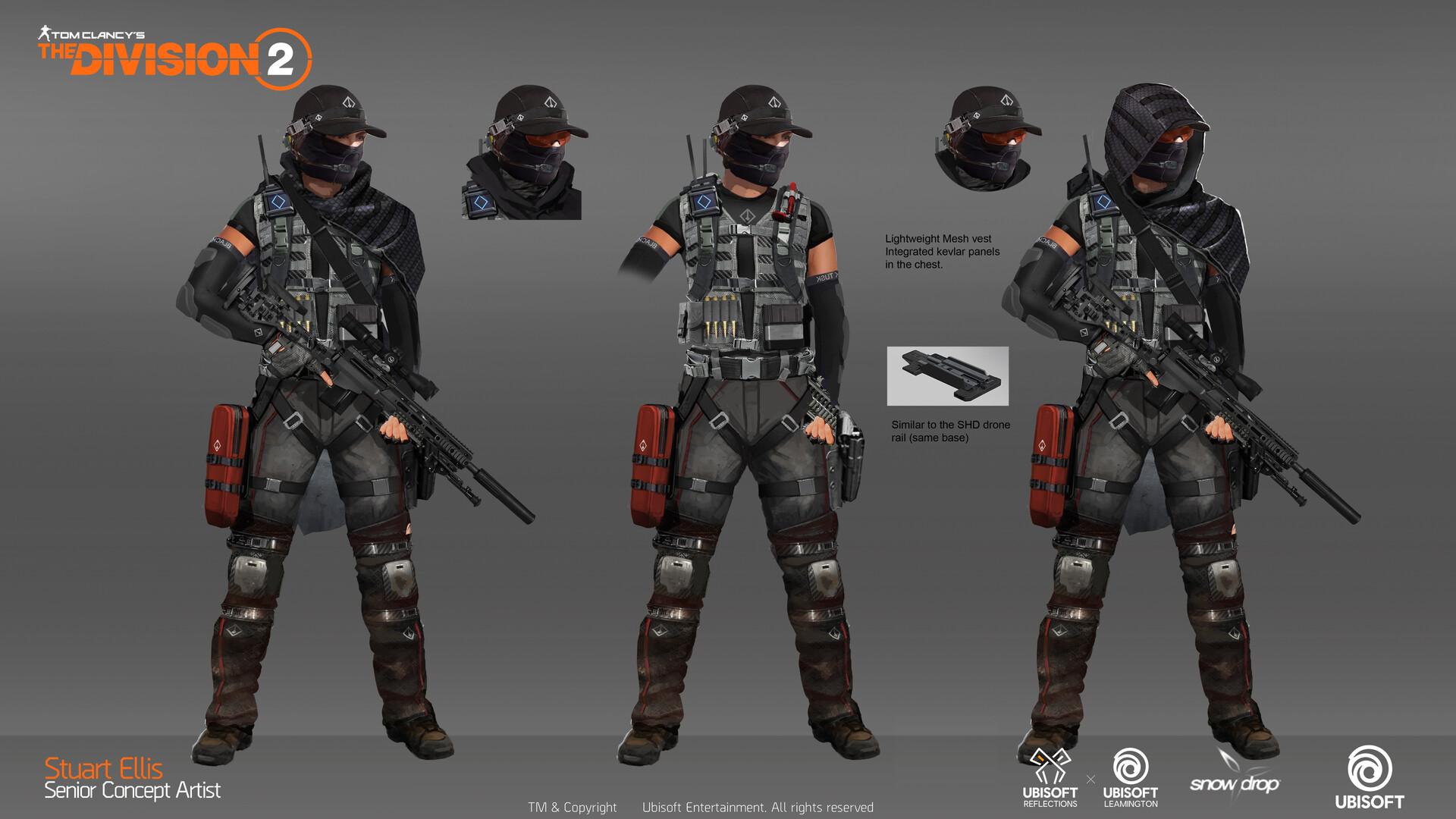 Artstation Division 2 Black Tusk Sniper Concept Stuart Ellis Division Futuristic Armour Concept