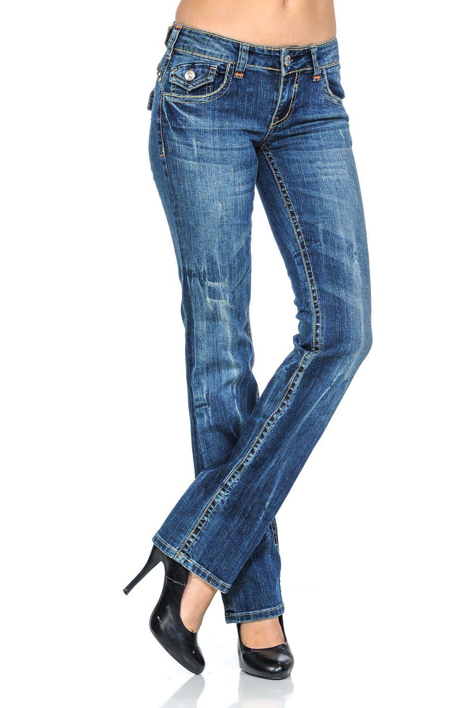 f02e73ad6f858 VIRGIN ONLY Womens Slim Fit Stretch Denim Straight Leg Jeans 3658 ...