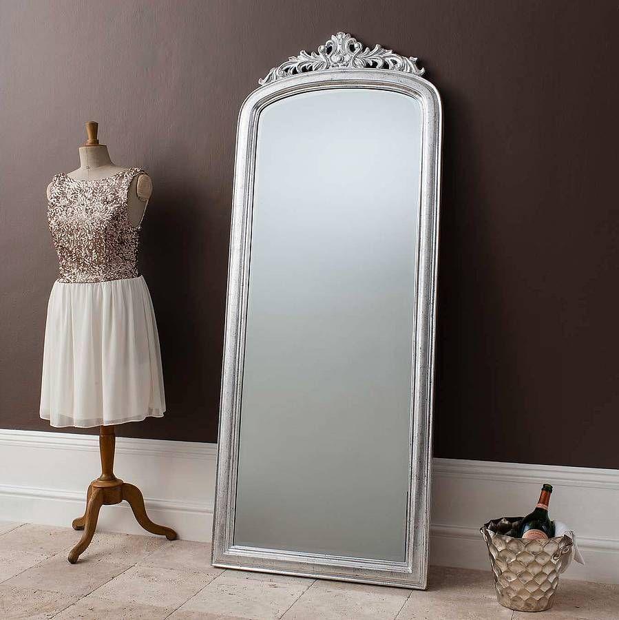 elegant silver full length mirror by primrose plum ...