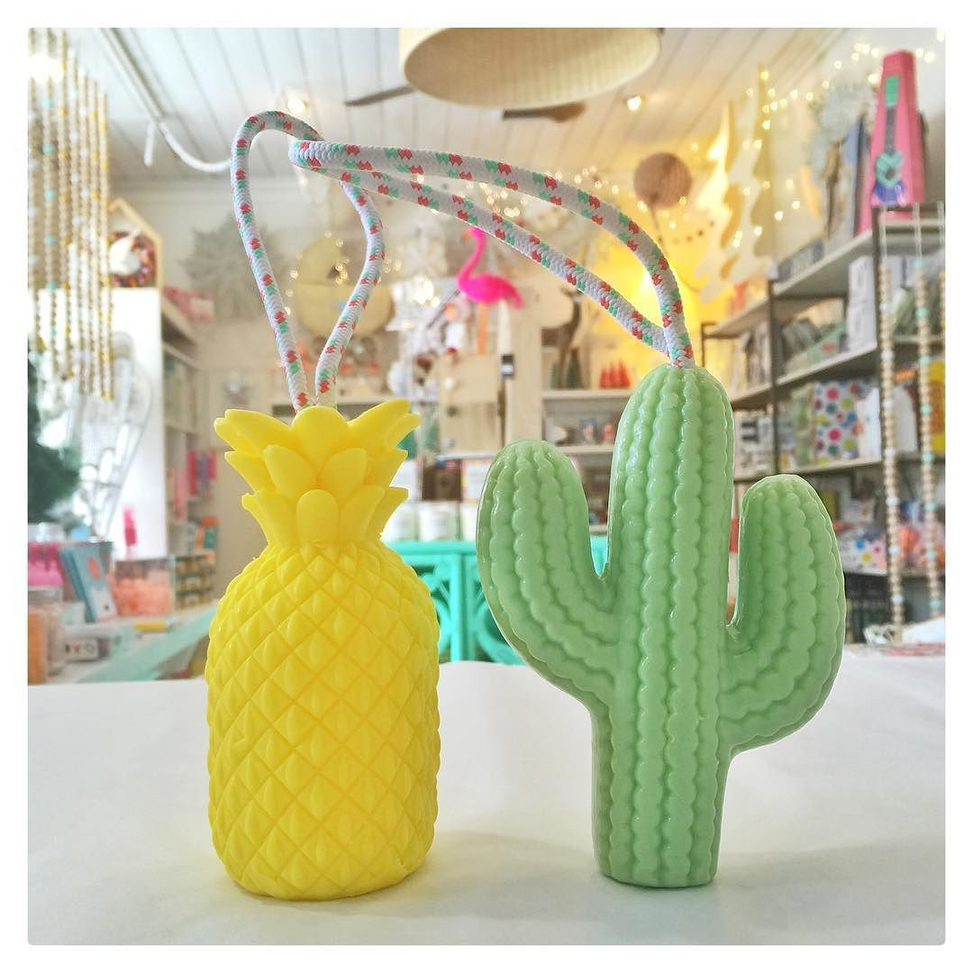 Squeaky clean soaps on a rope. In store and online. Monday let's do this!  #sunnylife #sweetsmelling #soaponarope #cactus #pineapple #cuteshop #yarraville #melbourne #christmas by invitemeshop