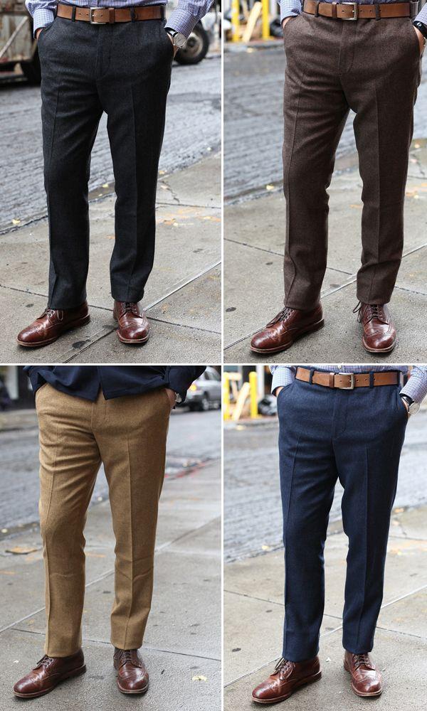 Donegal Tweed Trousers by Epaulet   I don't wear sneakers, I wear ...