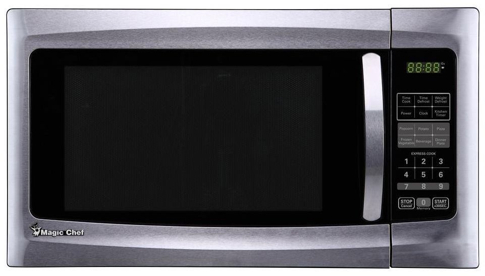 Magic Chef 1 6 Cu Ft 1100 Watt Stainless Steel Kitchen Countertop Microwave Ma Countertop Microwave Stainless Steel Oven Stainless Steel Kitchen Appliances