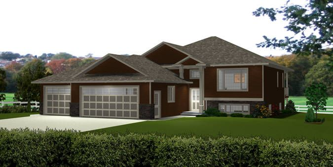 Bi Level Home 2012623 By Edesignsplans Ca Bi Level Homes Garage Apartment Plans Split Level House Plans