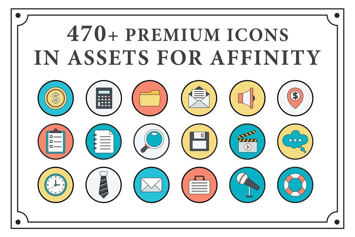 470+ Premium Icons For Affinity Icon, Creative suite