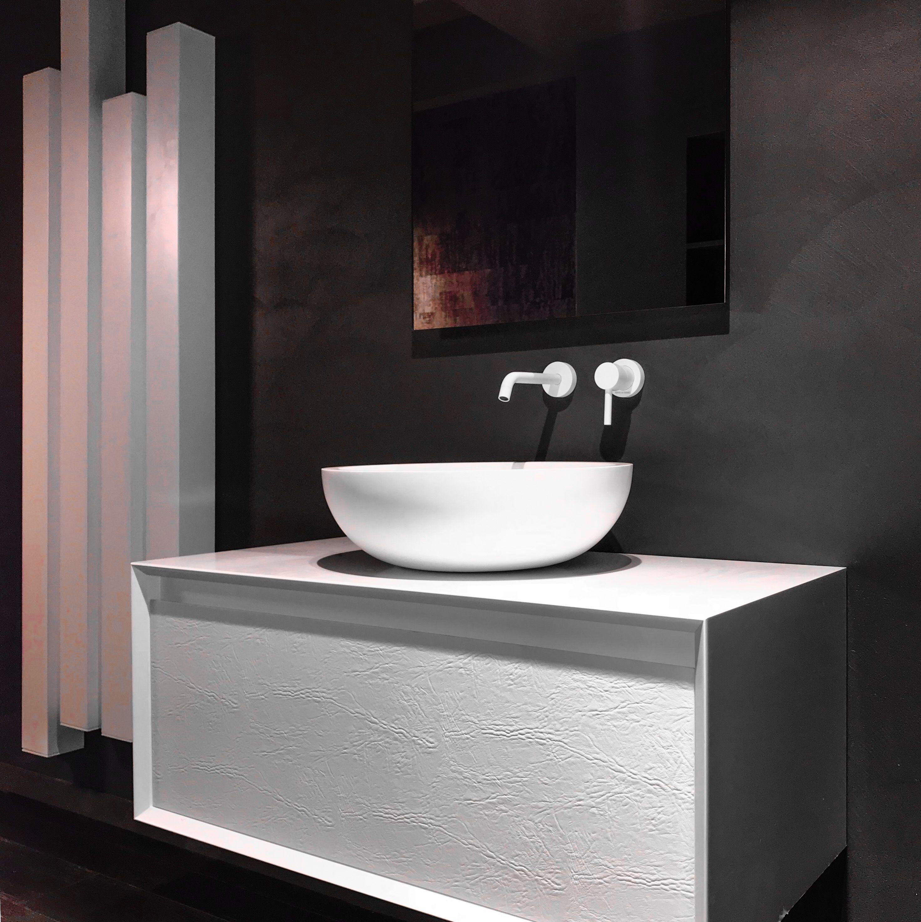 Mobile Bagno Museum Di Alexander Design Scocca Supermatt Bianco