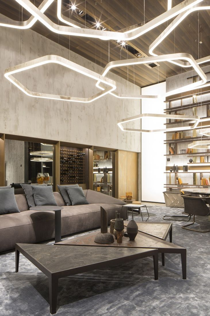O melhor do salone del mobile 2016 sala de estar for Sala de estar iluminacion