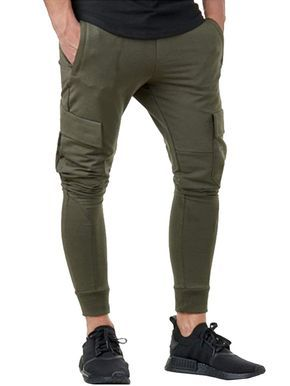 Men's Casual Slim Fit Workout Sweatpants Running Gym Pants - Army Green - C618NOTR7TC - Sports & Fit...