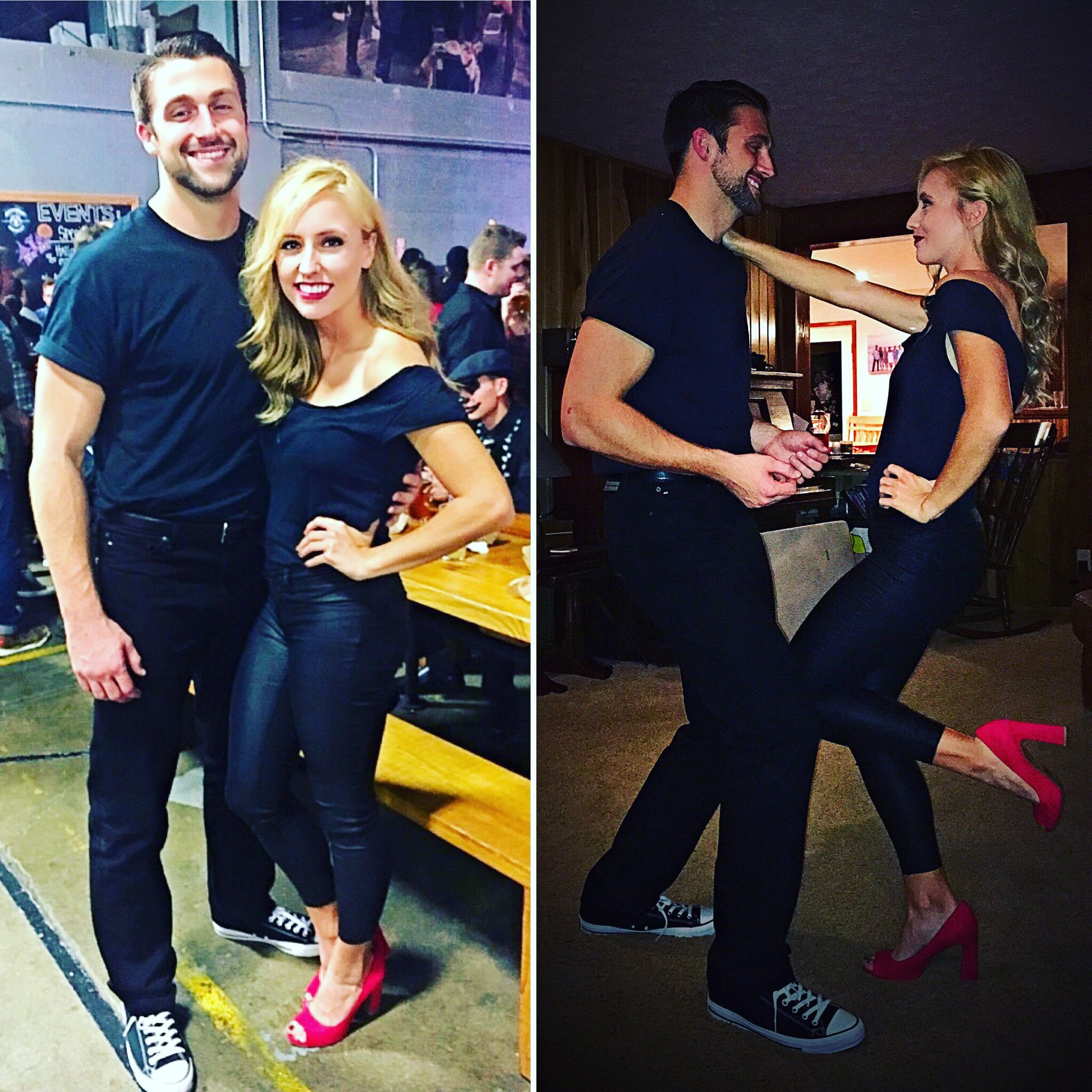 Sandy and Danny from Grease! DIY simple couple costume. Easy