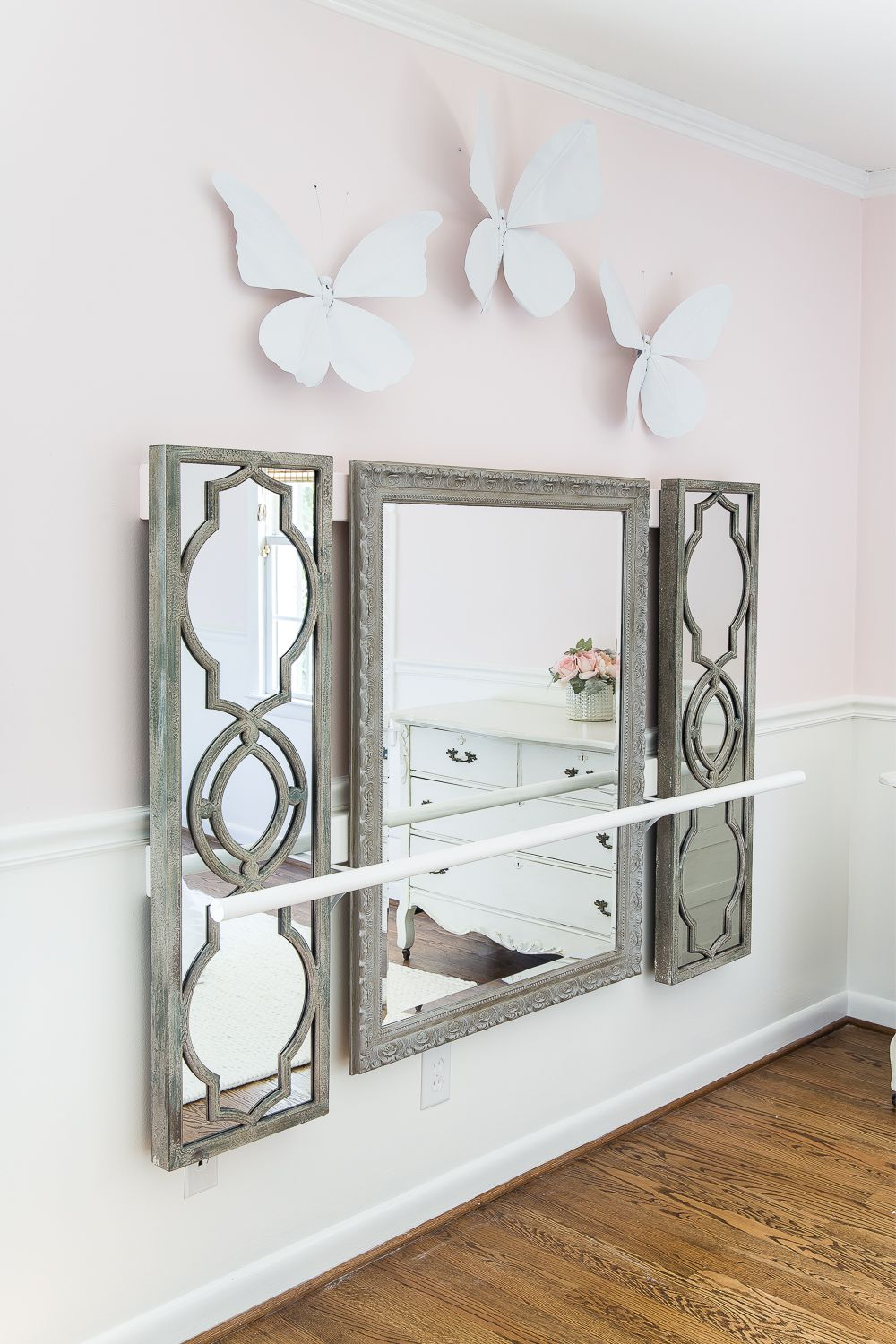 Diy Ballet Barre And How To Hang Wall Decor On A Chair Rail Bless Er House Living Room Decor Modern Decor Home Decor