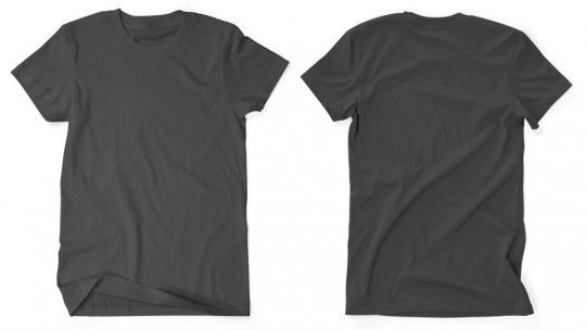 Men39s gt crew neck t shirt front and back views available on mockupeverythingcom mockup for Back of shirt mockup