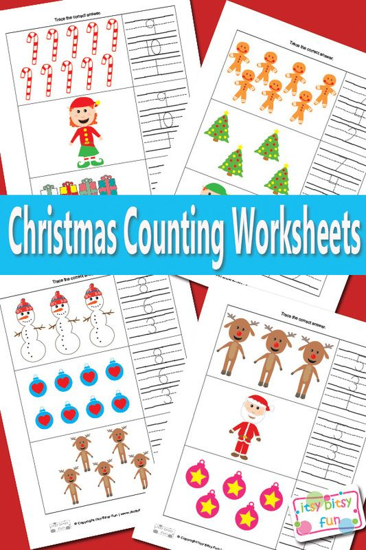 Christmas Counting Worksheets Math | Math worksheets, Worksheets and ...