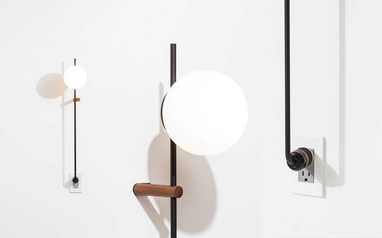 Lynea plug lamp a luminária minimalista que dispensa fios