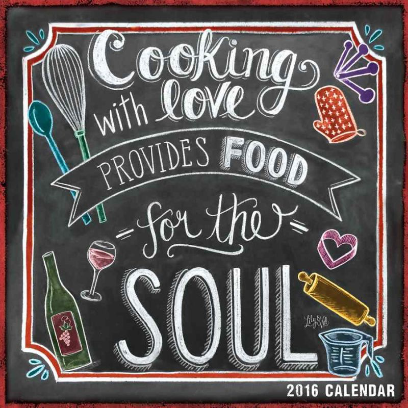 Do you know someone who loves to cook? Give them a gift they'll appreciate for the whole year! The unique, hand-drawn designs of renowned chalkboard artist Valerie McKeehan depict a delicious recipe each month.