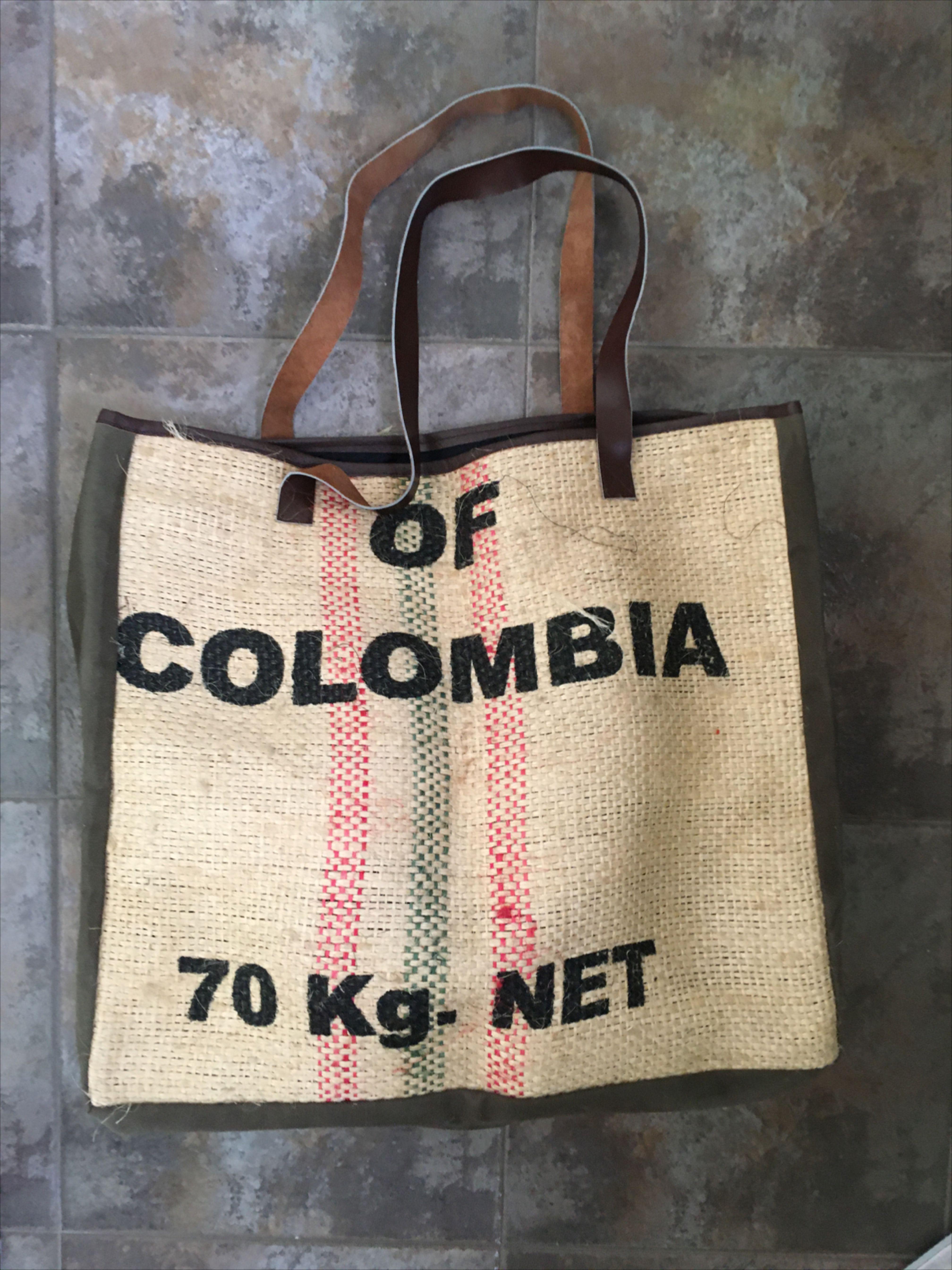 Tote Bag Artisanal Handicraft Burrrp 11 For Coffee Lovers Burlap In 2020 Coffee Lover Tote Bag Green Coffee Bean