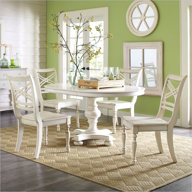 riverside furniture placid cove 5 piece round dining table