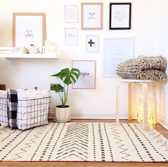 Stamm skandinavischen Teppich nordischen Teppich von COLASHOME - nordische wohnzimmer