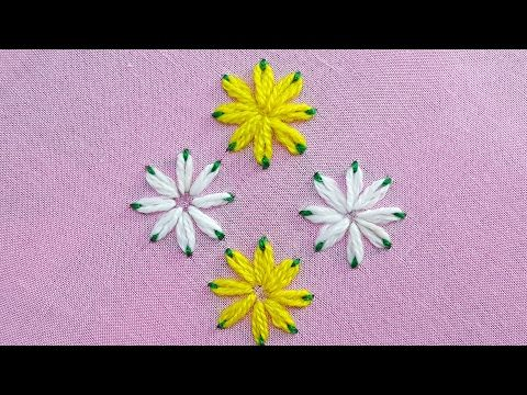 Hand Embroidery How To Stitch Roses With The Woven Wheel Stitch (Spider Woven Wheel) Tutorial ...