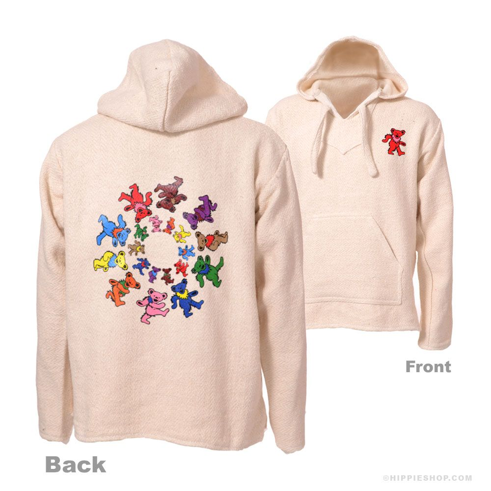 Youth Kids Boys And Girl Grateful Dead Dancing Bear Hoodie