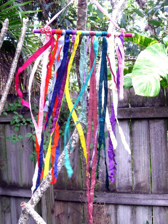 Romantic Rainbow BOHO Vintage Ribbon Mobile Wall by TheBohoHippie, $26.00