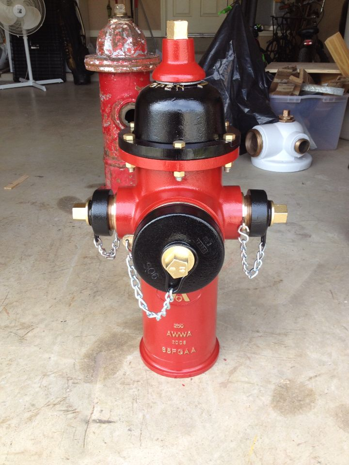 2006 American Darling Nuhydrant Firefighter Decor Fire Hydrant Fire Equipment