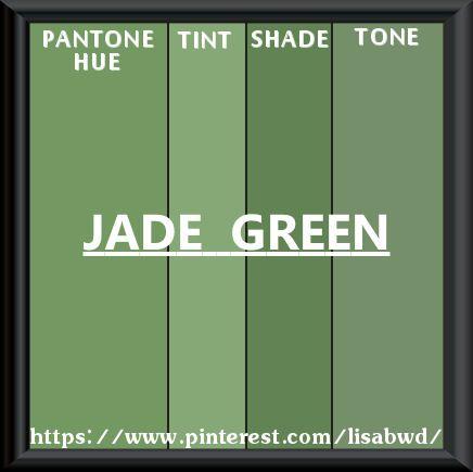 Pantone Seasonal Color Swatch Jade Green