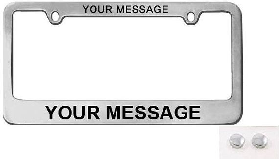 personalized chrome license plate frame custom license plate frame high quality shiny chrome license plate