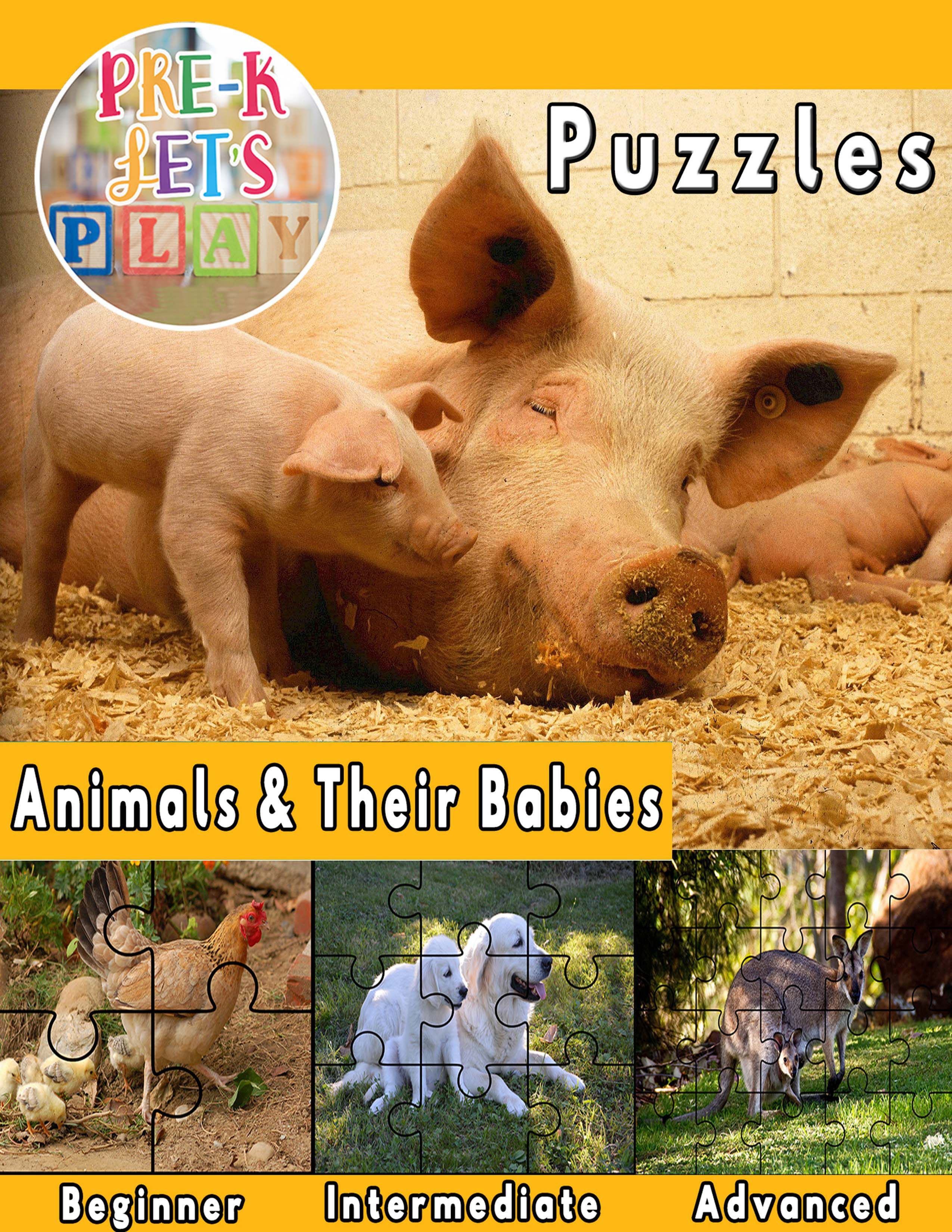 Animals And Their Babies Puzzle Printables