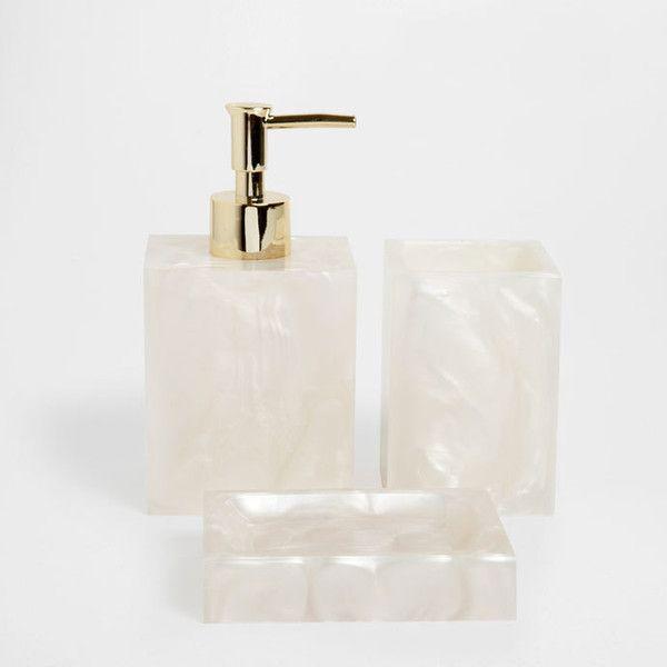 Beige Resin Bathroom Set Accessories Zara Home United