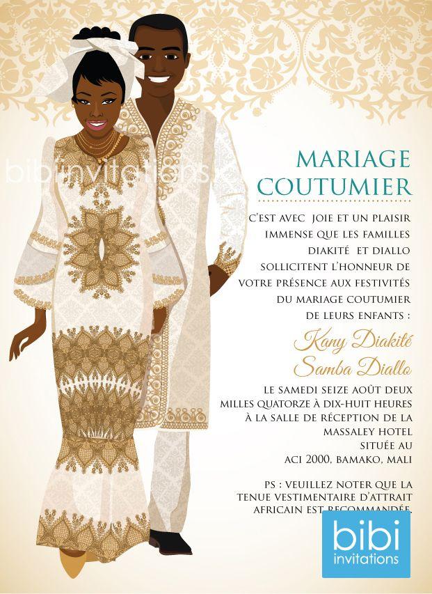 d invitation mariage traditionnel