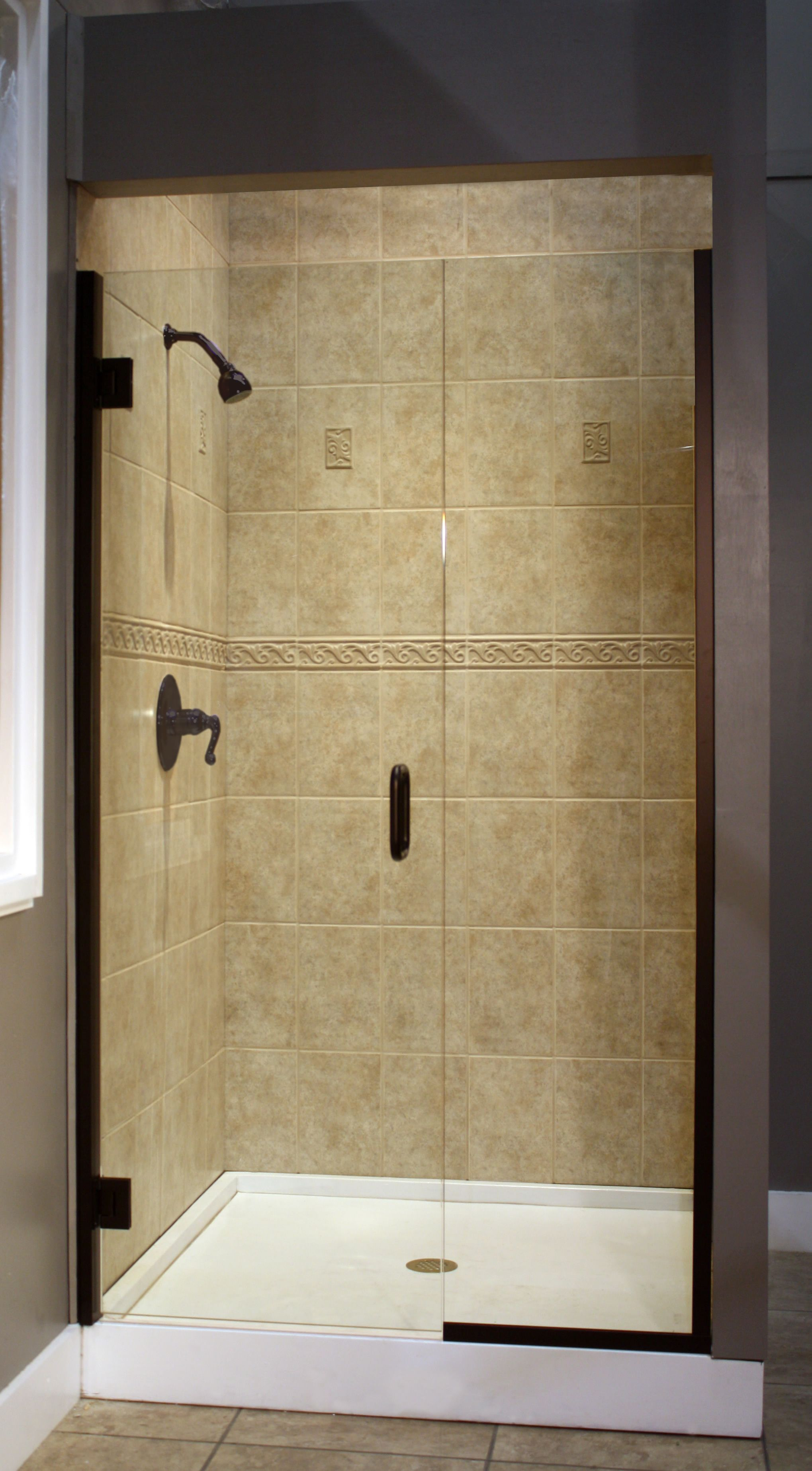 Elegant Euro Frameless Shower Door Cost Per Square Foot With Metal