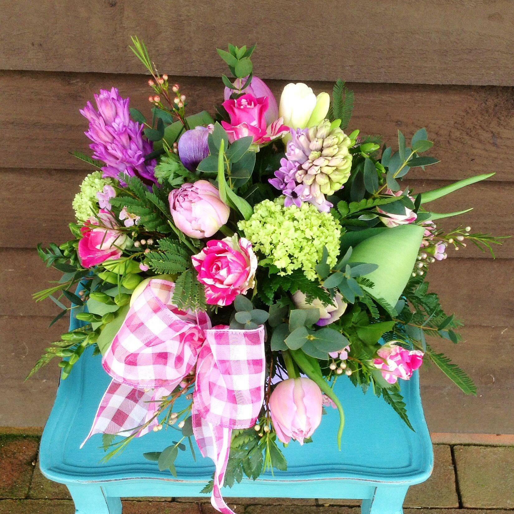 """""""Scented posy pail"""" www.thepetalboutique.co.uk"""