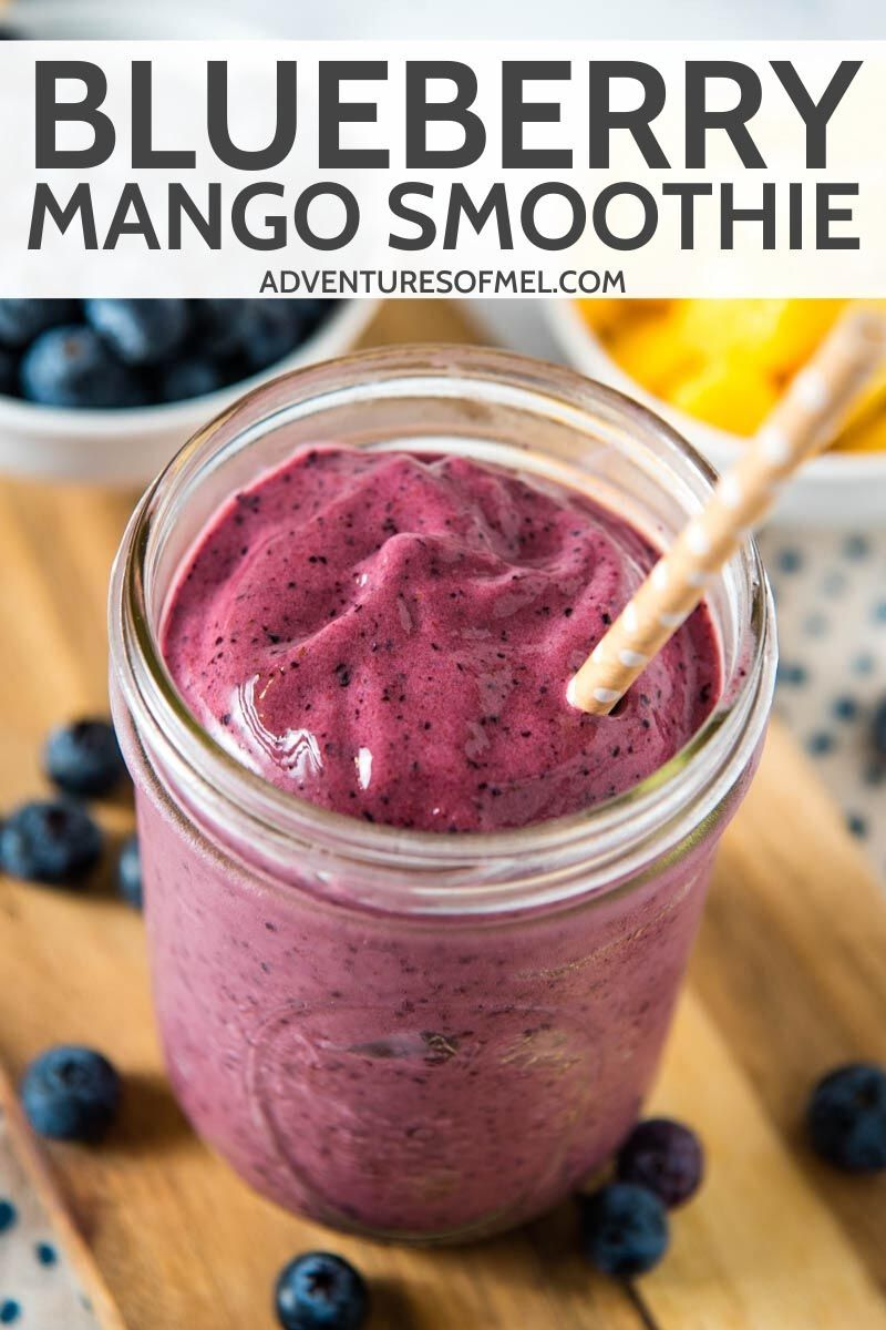 How to make a mango blueberry smoothie you can blend up