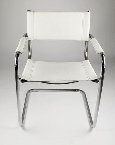 Modern BAUHAUS MART STAM Cantilever Armchair with White