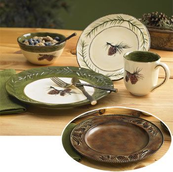 Pinecone Dinnerware & Charger | Wild Wings | Dinnerware ...