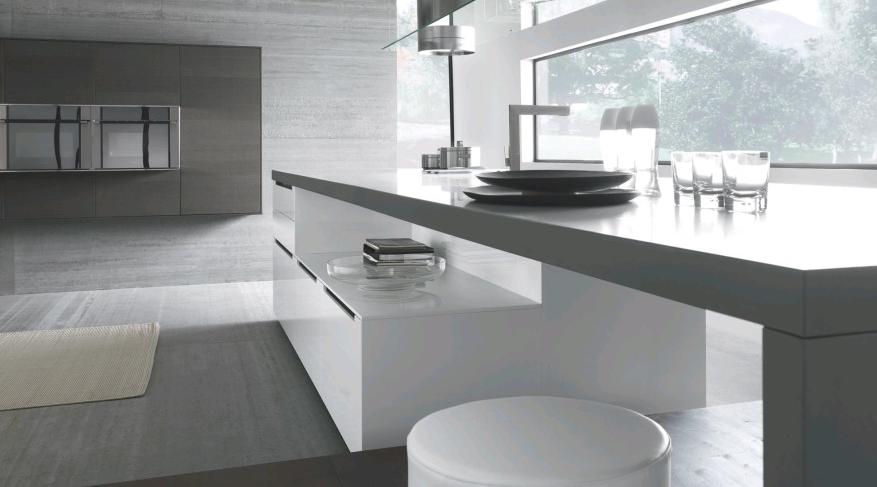 Contemporary Minimalist Interior With A Clean Kitchen