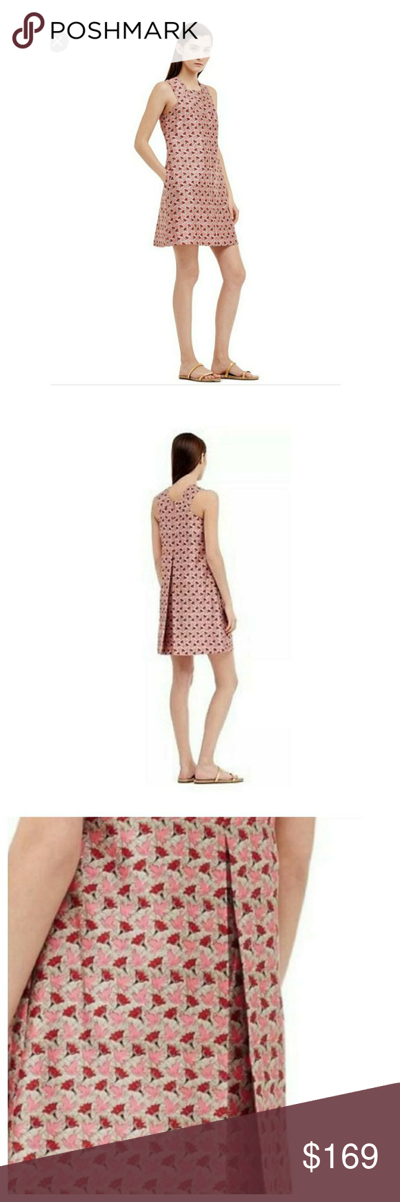 ec94692f2b56 Tory Burch Silk Gazar Square Neck Dress Tory Burch Silk Gazar Square Neck  Dress Size  8 Material  100% Silk Measurements  Chest  34 in. Length  36 in.