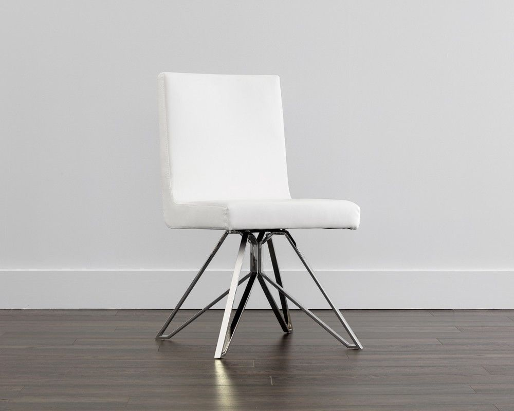 Clouse Swivel Dining Chair  Sunpan This Sleek Swivel Dining Chair New Leather Swivel Dining Room Chairs Inspiration Design